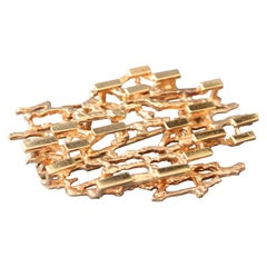 Stylised Abstract Brooch of 14-Carat Yellow Gold, circa 1970s