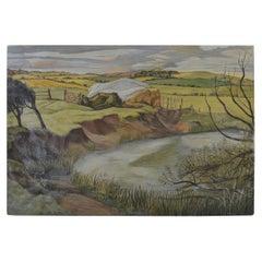 Stylized English Landscape, Michael Lord, 1940s