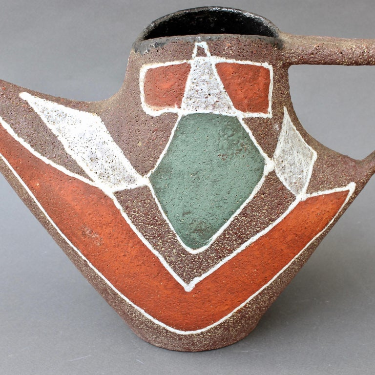 Stylised MidCentury Ceramic Watering Pot / Vase by Accolay, circa 1950s For Sale 10