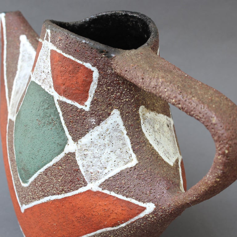 Stylised MidCentury Ceramic Watering Pot / Vase by Accolay, circa 1950s For Sale 11
