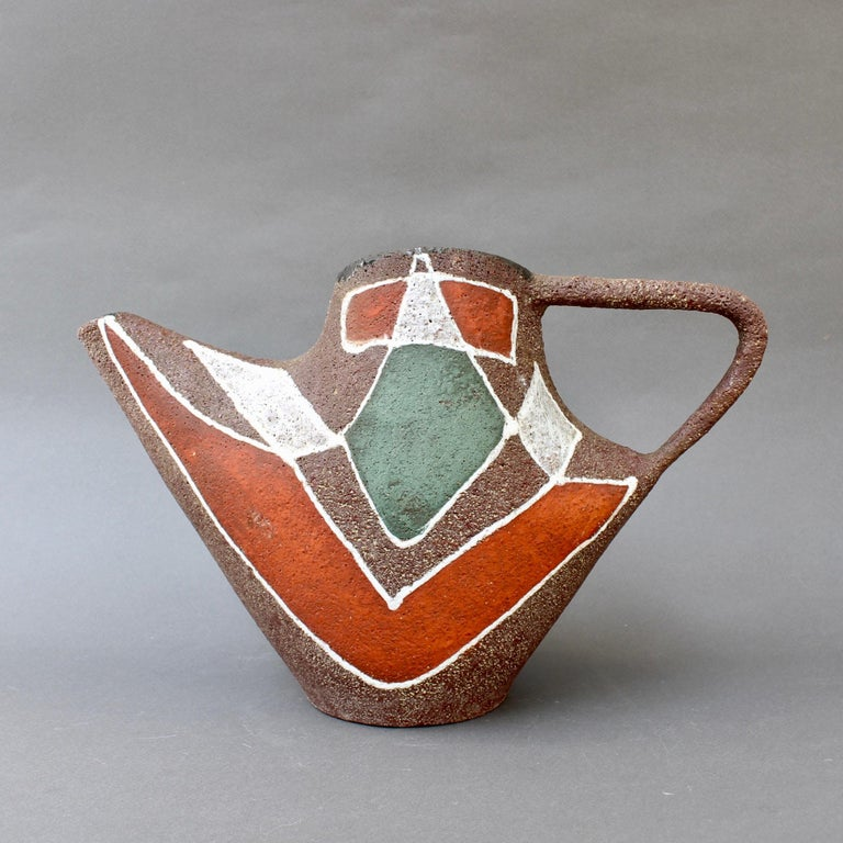Stylised MidCentury Ceramic Watering Pot / Vase by Accolay, circa 1950s In Good Condition For Sale In London, GB