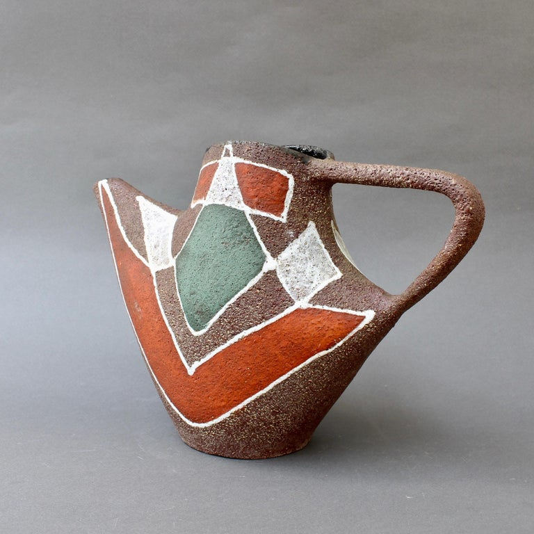 Stylised MidCentury Ceramic Watering Pot / Vase by Accolay, circa 1950s For Sale 1