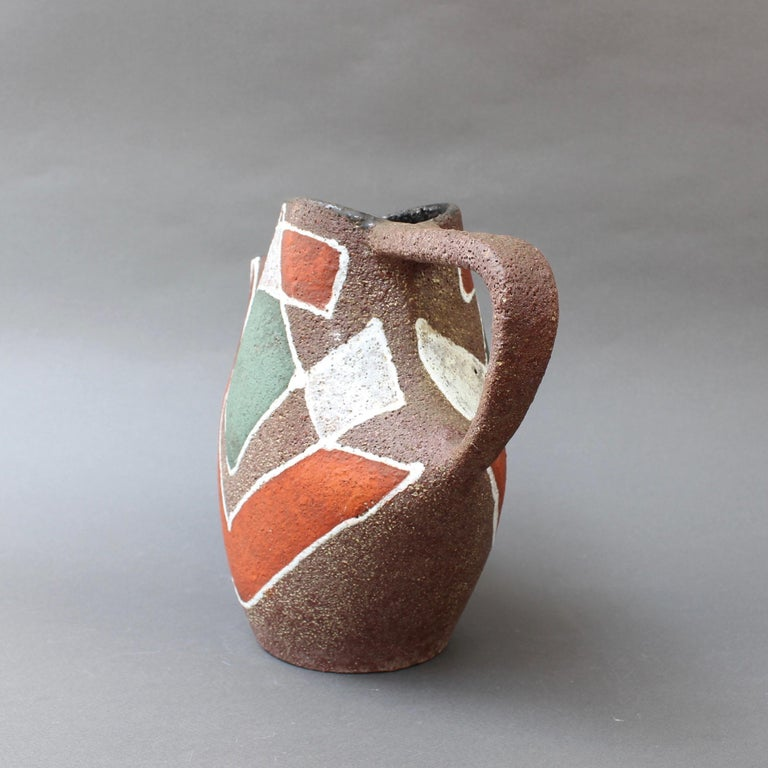 Stylised MidCentury Ceramic Watering Pot / Vase by Accolay, circa 1950s For Sale 2