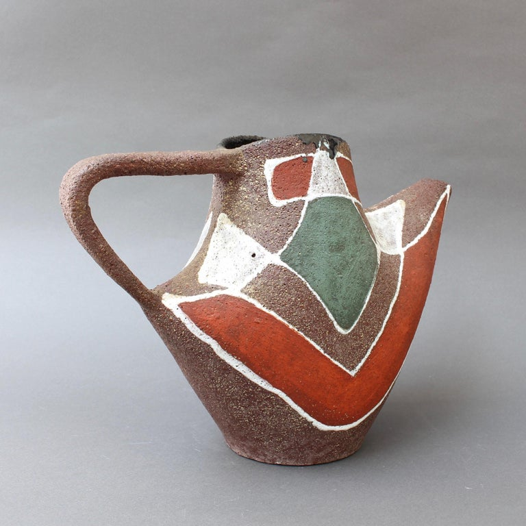 Stylised MidCentury Ceramic Watering Pot / Vase by Accolay, circa 1950s For Sale 3