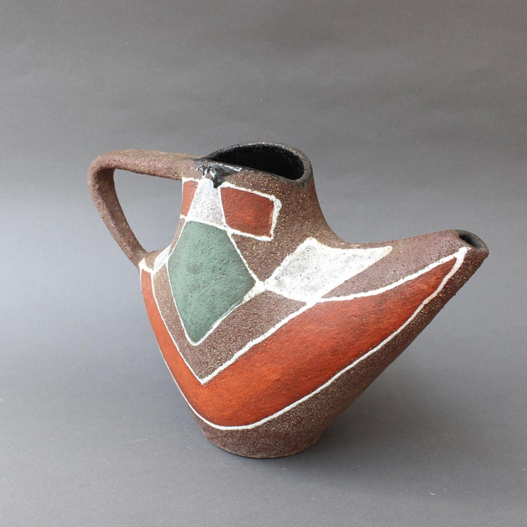 Stylised MidCentury Ceramic Watering Pot / Vase by Accolay, circa 1950s For Sale 5