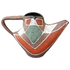 Stylised MidCentury Ceramic Watering Pot / Vase by Accolay, circa 1950s