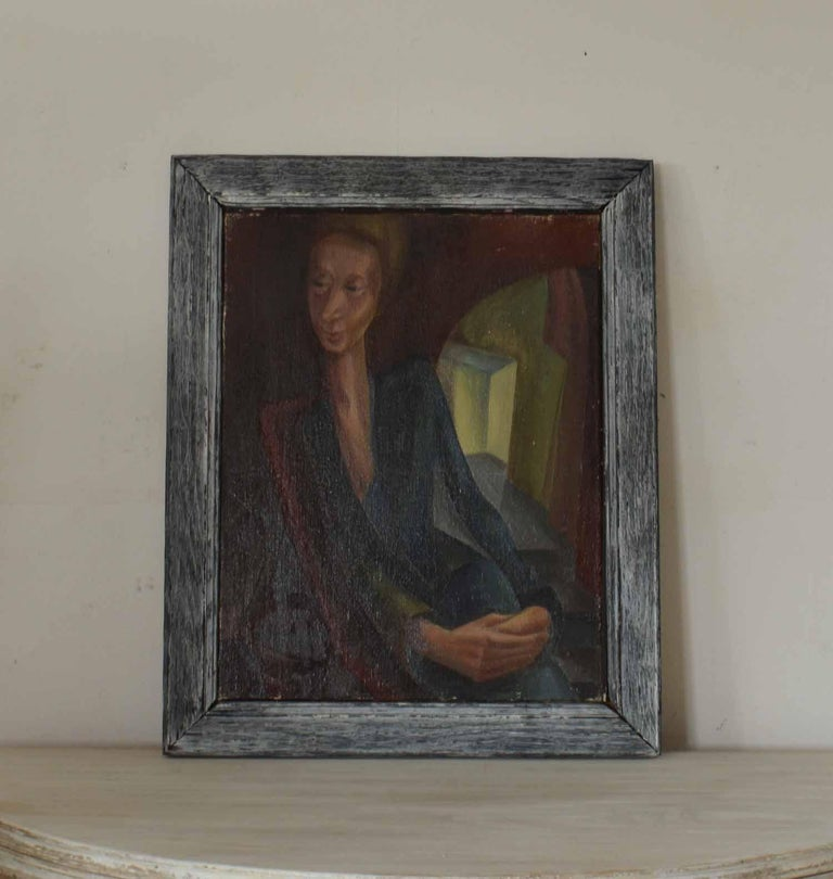 Expressionist Stylized Portrait of a Lady, Iris Hardcastle, circa 1940 For Sale