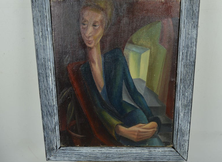 Stylized Portrait of a Lady, Iris Hardcastle, circa 1940 In Good Condition For Sale In St Annes, Lancashire