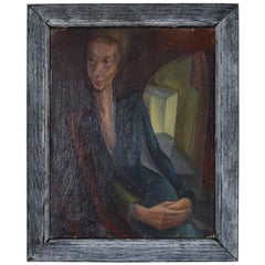 Stylised Portrait of a Lady, Iris Hardcastle, circa 1940