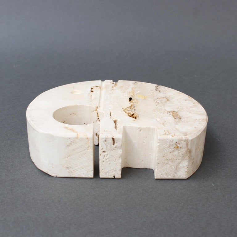 Stylised Travertine Elephant Envelope Holder by Mannelli Brothers 'circa 1970s' For Sale 4