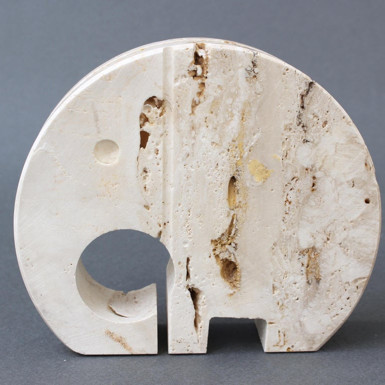 Stylised Travertine Elephant Envelope Holder by Mannelli Brothers 'circa 1970s' For Sale 6
