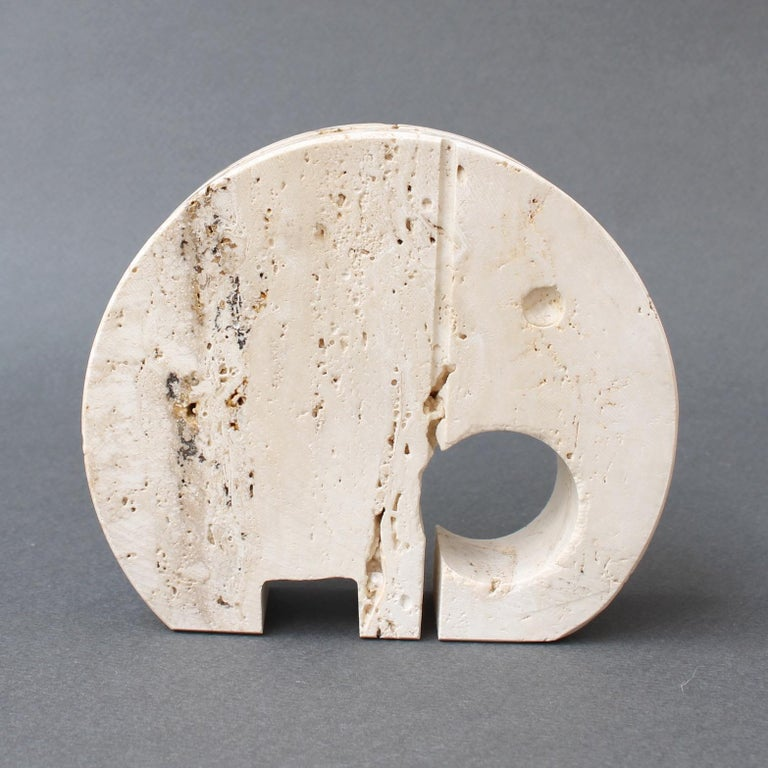 Stylised Travertine Elephant Envelope Holder by Mannelli Brothers 'circa 1970s' For Sale 1