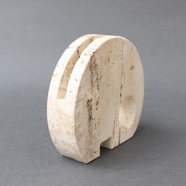 Stylised Travertine Elephant Envelope Holder by Mannelli Brothers 'circa 1970s' For Sale 2