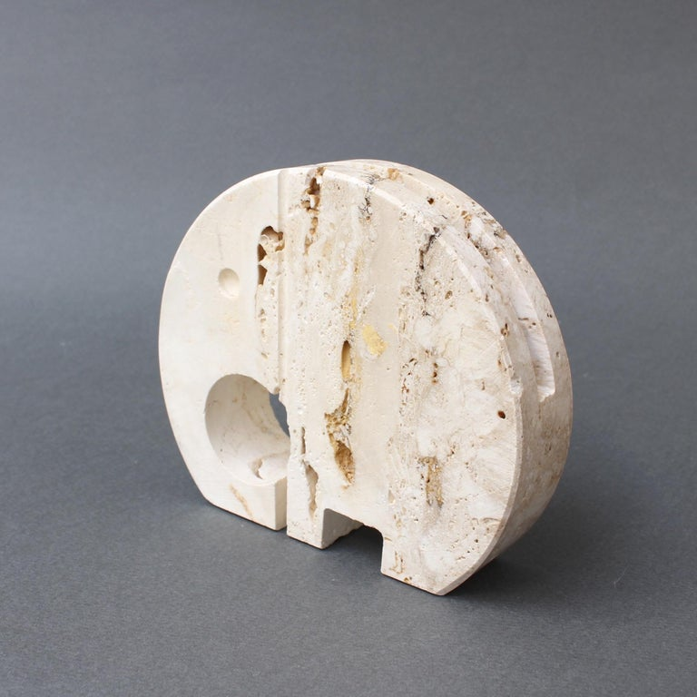 Stylised Travertine Elephant Envelope Holder by Mannelli Brothers 'circa 1970s' For Sale 3