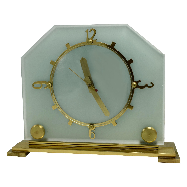 Stylish 1930s Art Deco Mantle Clock by Goblin