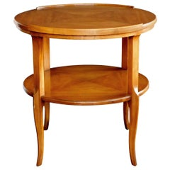 Stylish 1960s Circular Cherrywood Side/End Table by Widdicomb
