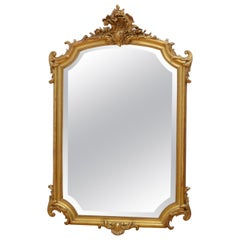 Stylish 19th Century Gilded Wall Mirror