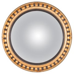 Stylish 20th Century Massive Convex Gilt Frame Mirror, circa 1980
