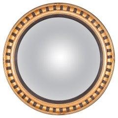 Stylish 20th Century Massive Convex Gilt Frame Mirror, circa 1980