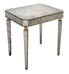 Stylish American Mid-Century Rectangular Mirrored Side Table by Archibald Taylor