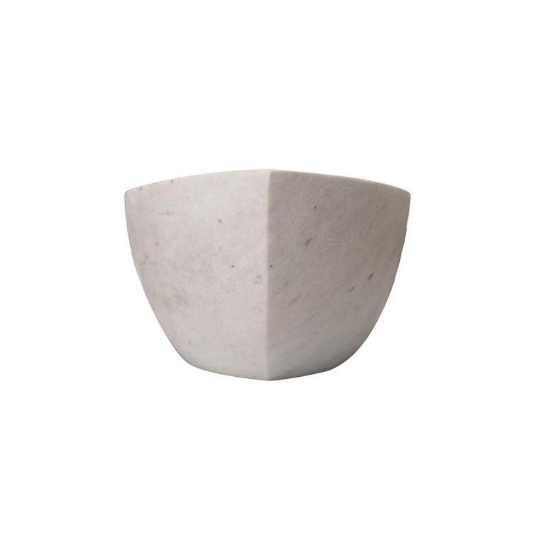 Stilvolle und luxuriöse Reibschale / Mörser aus Carrara-Marmor 5