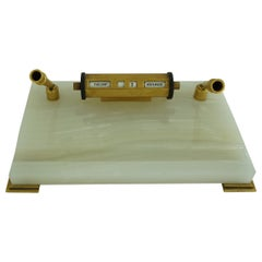 Stylish Art Deco Desk Stand with Pen Holders and Calendar Scotland 1930 984