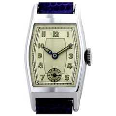 Stylish Art Deco Gents Wristwatch Old Stock, Never Worn, circa 1930