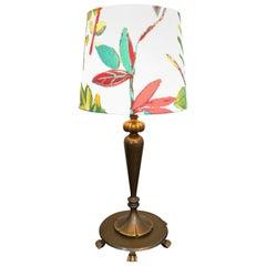 Stylish Art Deco Table Lamp in Cast Brass