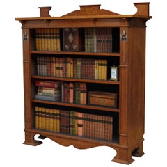 Stylish Arts & Crafts Open Bookcase in Solid Oak