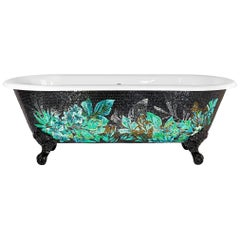 Stylish Bathtub Hand Decorated with Artistic Mosaic Cutomizable
