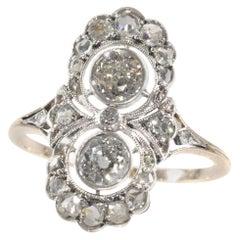 Stylish Belle Epoque Diamond Engagement Ring, 1910s