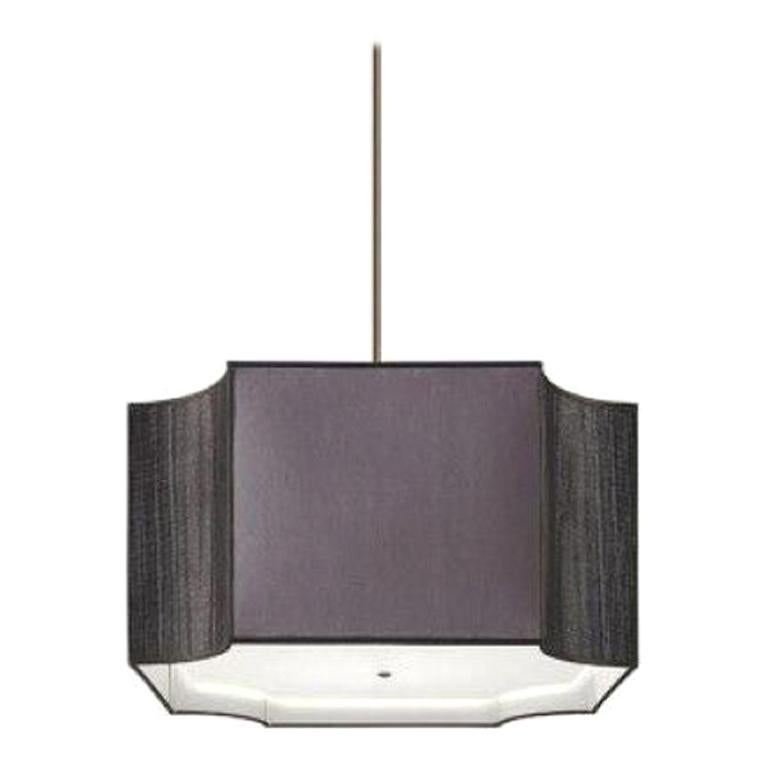 Stylish Ceiling Lamp Lampshade in Fabric Metal Frame Antique Bronze Finish
