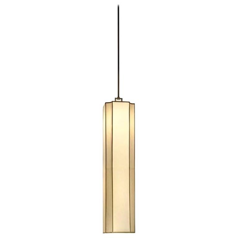 Stylish Ceiling Lamp Lampshade in fabric Metal frame antique Bronze Finish For Sale