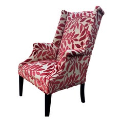 Stylish Classic Wing Chair with Updated Upholstery