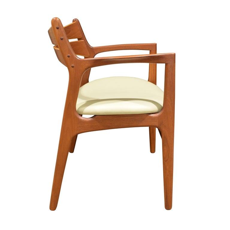 Scandinavian Modern Stylish Danish Desk Chair in Teak, 1950s 'Signed' For Sale