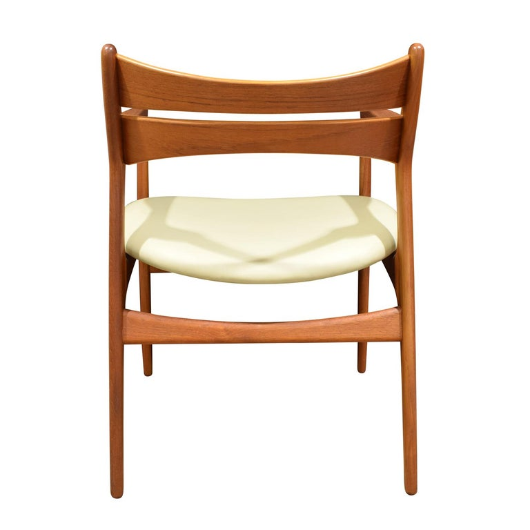 Hand-Crafted Stylish Danish Desk Chair in Teak, 1950s 'Signed' For Sale