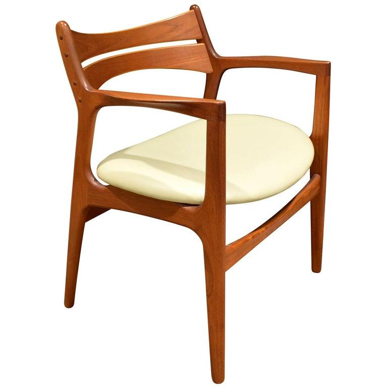 Stylish Danish Desk Chair in Teak, 1950s 'Signed' For Sale