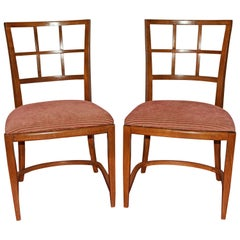 Stylish Deco Dining Chairs, Pair