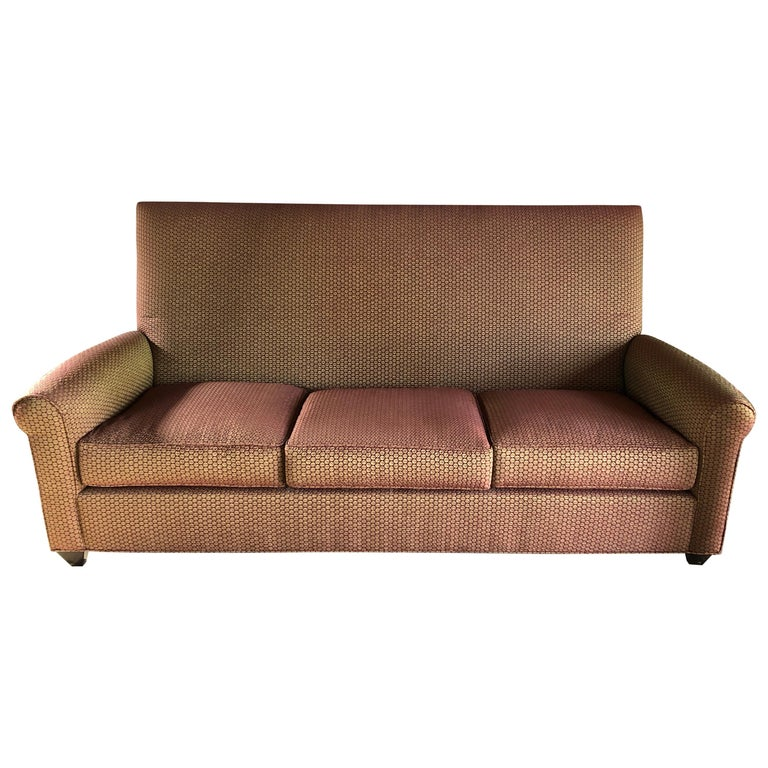 Stylish Donghia Sofa Upholstered In Jack Lenor Ln Top Of The Line Fabric For