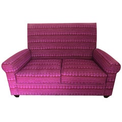 Stylish Donghia St. James Loveseat in Bold Fuschia Knoll Upholstery