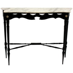 Stylish Ebonized Italian Console Table