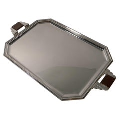 Stylish French Art Deco Cocktail Tray in Silver Plate, circa 1930s