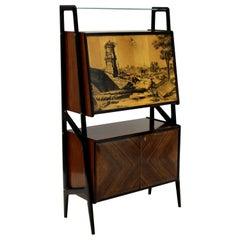 Stylish Gio Ponti Style Bar Cabinet
