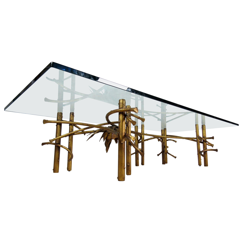 Stylish Glass-Top Coffee Table
