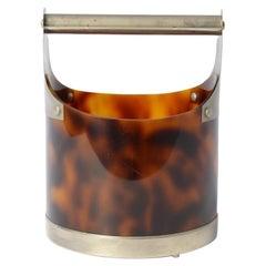 Stylish Horn-Look Bakelite Ice Bucket, 1970s