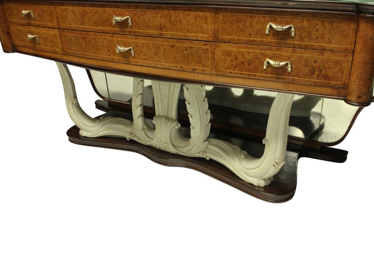 Stylish Italian Midcentury Hall Console with Mirror In Good Condition In London, GB