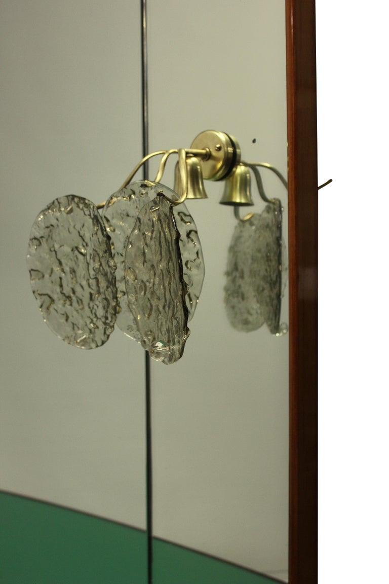 Mid-20th Century Stylish Italian Midcentury Hall Console with Mirror
