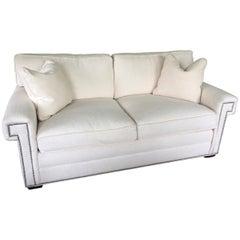 Stylish Like New Contemporary White Sofa by Vangard