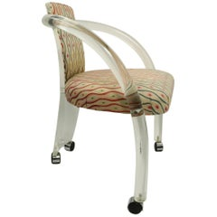 Stylish Lucite Armchair in the Style of Charles Hollis Jones