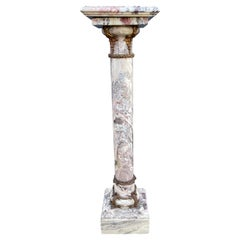 Stylish & Majestic Looking Late 19th Century, Marble & Bronze Pedestal / Column